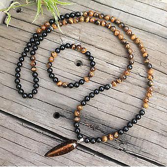 אבן טבעית - אוניקס שחור, עין נמרים, סטים מגנים, מדיטציה רוחנית
