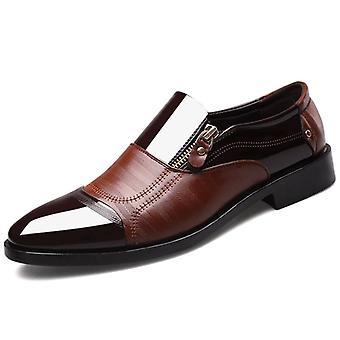 الرجال تنفس المطاط أكسفورد الجلود اللباس الرسمي حذاء