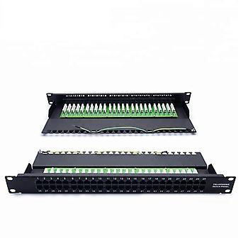 Mt-4004 19 Zoll Rack Mount Typ 1u 50 Port Cat3 Rj11 Telefon Patch Panel