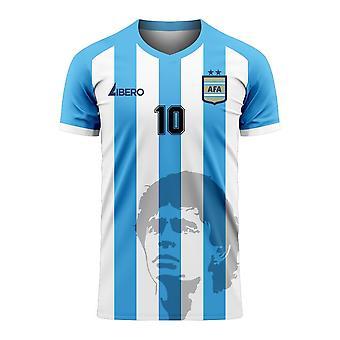 Diego Maradona Argentiina Silhouette Concept paita