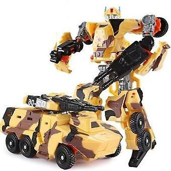 Modelo transformação robô figura de ação do carro