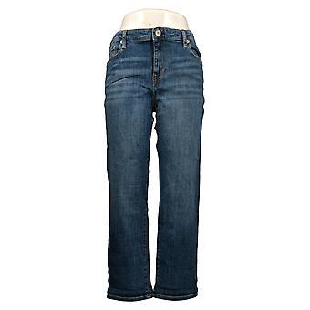 Chaps Women's Jeans Slim Boyfriend Fit Indigo Zip Front