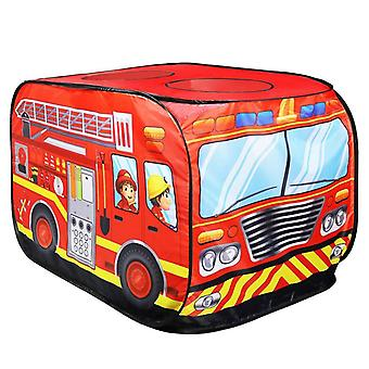 Kids Popup Play Tent Toy - Outdoor Foldable Playhouse Truck