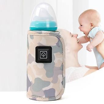 Bärbar USB-babyflaska varmare resa mjölkvärmare isolering
