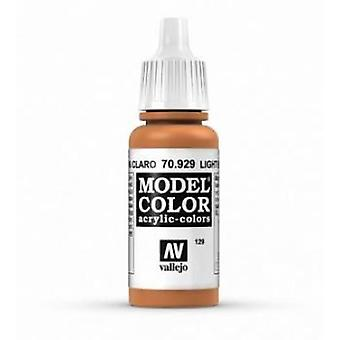 Vallejo Model Color 17ml Acrylic Paint - 929 Light Brown