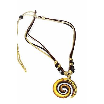 Tribal Spiral Boho Style Necklace