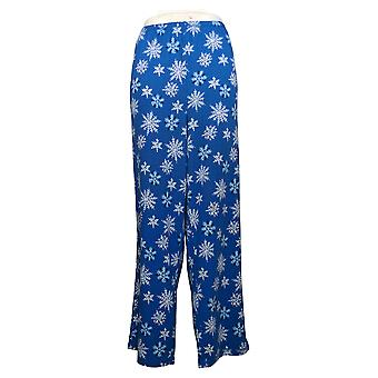 Carole Hochman Women's Petite Marshmallow Jersey Pajama Pants Blue A381877