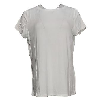 G By Giuliana Women's Top EcoLuxe Jersey Soft Tees White 729381