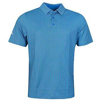 Callaway Golf Mens 2021 All Over Printed Opti-Dri Wicking Stretch Golf Polo Shirt