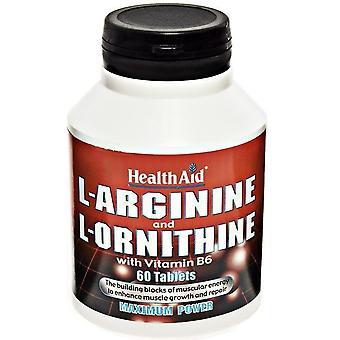 Terveysapu L-Arginina y L-Ornitina 60 Cápsulas