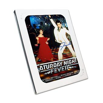 John Travolta Signed Saturday Night Fever Film Poster. In Gift Box