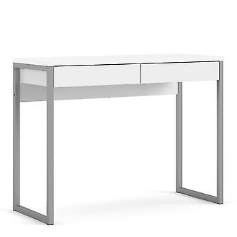 Fosy Desk 2 cassetti in bianco lucido