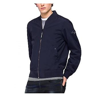Replay Jeans Replay Mens Casual Bomber Jacket Navy