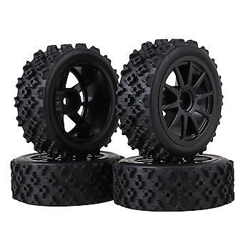 4piece RC1:10 på veien bil blomst gummi dekk og svart plast 10 eiker hjul felger