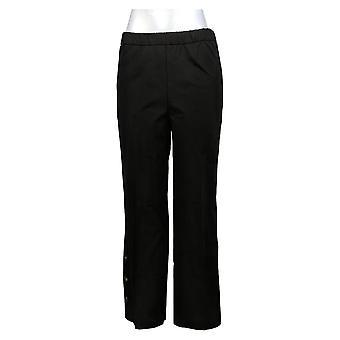 Isaac Mizrahi Live! Damen's Hose 10T Hoch 24/7 Stretch Schwarz A375762