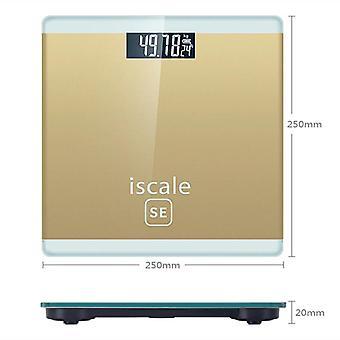 Digital Body Weight Bathroom Scale LCD Display(Golden)