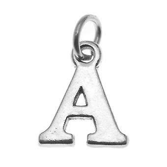 Final Sale - Sterling Silver Alphabet Charm, Initial Letter 'A' 16mm, 1 Piece, Silver