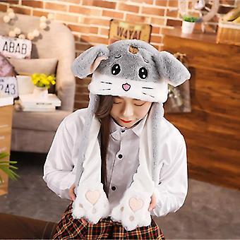 Hauska elefantti kani yksisarvinen hattu korvilla.
