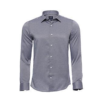 Dot-kuviollinen slim-fit harmaa paita | Kävi koulua wessi