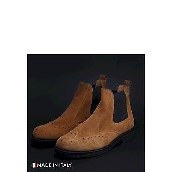 Duca di Morrone - Shoes - Ankle Boots - 101-CAMOSCIO-CUOIO - Men - chocolate - EU 41