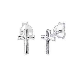 Elli Earrings Woman Cross Pattern Silver Watermark Sterling 925