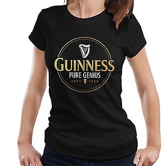 Guinness Gold Pure Genius Naisten t-paita