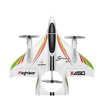 RC الطائرة 2.4G التحكم عن بعد بلا فرشاة طائرة شراعية Rc ألعاب الطائرة| RC الطائرات (أبيض)
