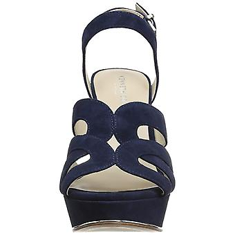 Kenneth Cole New York Womens Nealie Suede Peep Toe Casual Ankle Strap Sandals
