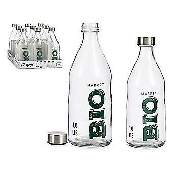 Bouteille Bio Glass Steel 1000 ml