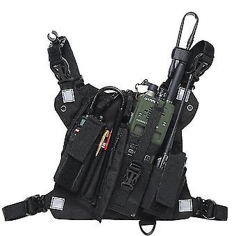 nový pt-09 plus hrudní postroj přední balení pouzdro vesta rig pro vysílačku talkie sm45548