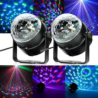 Mini RGB Led Crystal Magic Ball Stage Effect Lampe d'éclairage