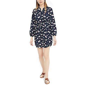 Maison Jules Damen Bedrucktes Doppel-Hem-Split-Neck-Kleid