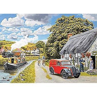 Canal Cottage Yapboz için Falcon Deluxe Parsel (1000 Adet)