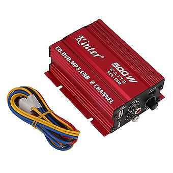 12v Mini Hi-Fi Stereo Audio Verstärker für Auto Motorrad Radio Mp3 Rot