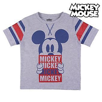 Camiseta de manga corta para niños Mickey Mouse Grey