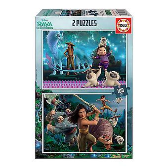 Puzzle Disney Raya The Last Dragon Educa (2 x 100 pcs)