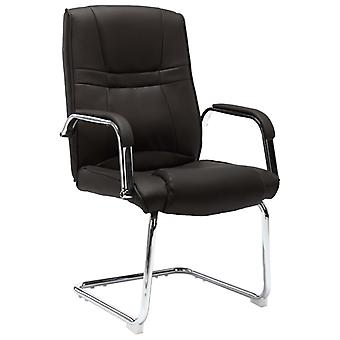 vidaXL كانتيلفر كرسي كرسي كرسي أسود الجلود الاصطناعية