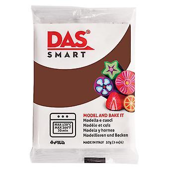 DAS 321028 Smart Oven-Bake Clay 57g (2x 28.5g) Chocolate