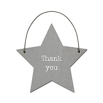 Thank You - Mini Wooden Hanging Star - Cracker Filler Gift