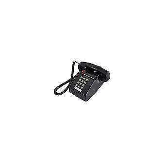 25T Retro Telephone Metal Pedestal Antique Telephone Classical Old Style Landline Telephone BLACK
