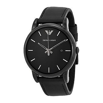 Emporio Armani AR1732 Luigi Black Strap Black Dial Date-Window Chronograph Watch