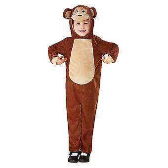 Costume scimmia bambino, marrone chiaro (età 3-4)