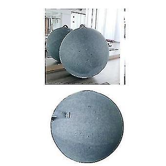 Sininen joogapallon kansi 65cm pilates istumapallotuoli pölytiivis suoja slipcover (sininen)