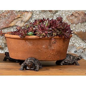 Potty Feet Decorative Tortoise Plant Pot Feet Antique BronzeColor - Set of 3