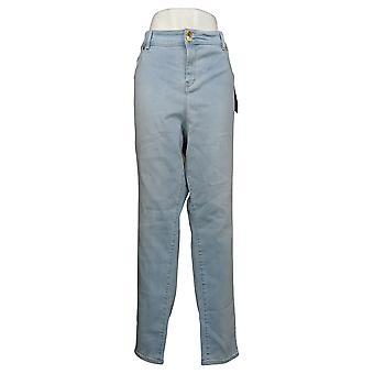 Global Chic By Iman Women's Plus Jeans Luxury Resort Slim Skinny Blue 685778