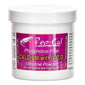 Rep Cal Phosphorus Free Calcium with Vitamin D3 - Ultrafine Powder - 3.3 oz