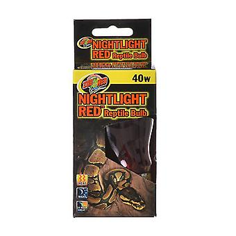 Zoo Med Nightlight Red Reptile Bulb - 40 Watts