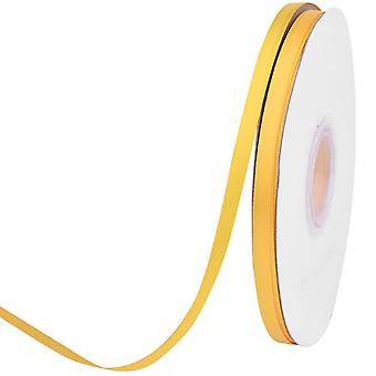 25m Morgenfrue gult 3mm bredt satinbånd til håndværk