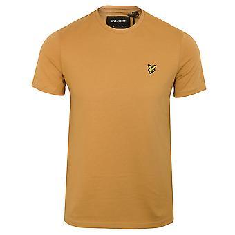 Lyle & scott men's tan t-shirt