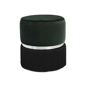 Ottoman - Modern - Green - Polyester - 41cm x 41cm x 44,5cm